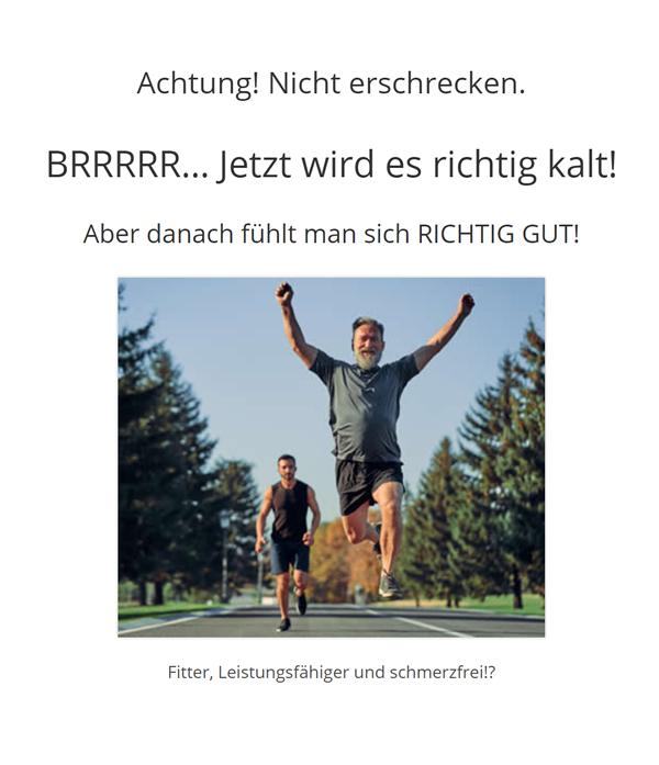 Kältesauna, Schmerztherapie Stuttgart: Kältekammer / Hautprobleme